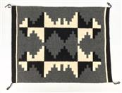 Small Handcrafted Rug Black/Grey/White 24X30""